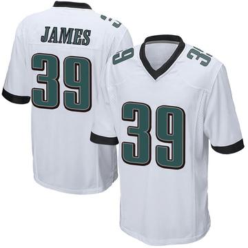 Youth Nike Philadelphia Eagles Craig James White Jersey - Game