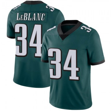 Youth Nike Philadelphia Eagles Cre'von LeBlanc Green Midnight 100th Vapor Jersey - Limited