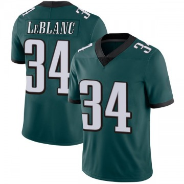 Youth Nike Philadelphia Eagles Cre'von LeBlanc Green Midnight Team Color Vapor Untouchable Jersey - Limited