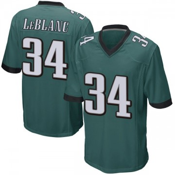 Youth Nike Philadelphia Eagles Cre'von LeBlanc Green Team Color Jersey - Game