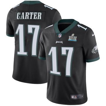 Youth Nike Philadelphia Eagles Cris Carter Black Alternate Super Bowl LII Vapor Untouchable Jersey - Limited