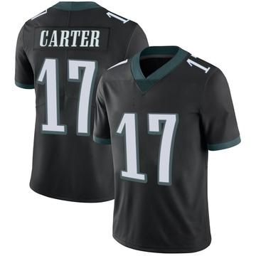 Youth Nike Philadelphia Eagles Cris Carter Black Alternate Vapor Untouchable Jersey - Limited