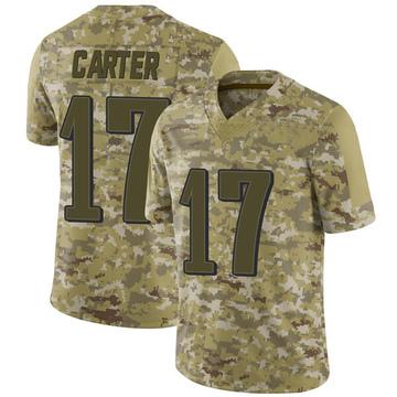 Youth Nike Philadelphia Eagles Cris Carter Camo 2018 Salute to Service Jersey - Limited
