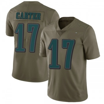 Youth Nike Philadelphia Eagles Cris Carter Green 2017 Salute to Service Jersey - Limited
