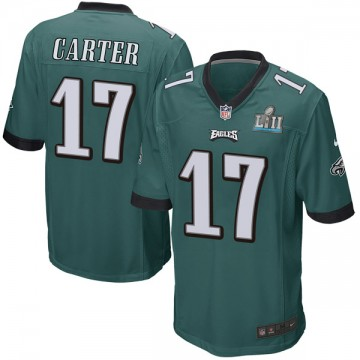 Youth Nike Philadelphia Eagles Cris Carter Green Team Color Super Bowl LII Jersey - Game