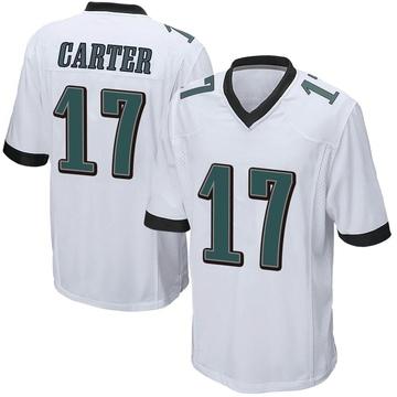 Youth Nike Philadelphia Eagles Cris Carter White Jersey - Game