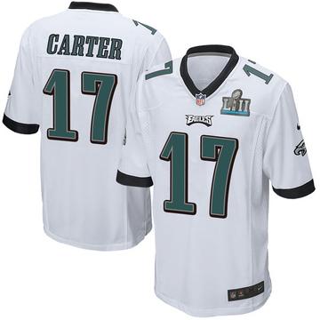 Youth Nike Philadelphia Eagles Cris Carter White Super Bowl LII Jersey - Game
