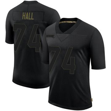 Youth Nike Philadelphia Eagles Daeshon Hall Black 2020 Salute To Service Jersey - Limited