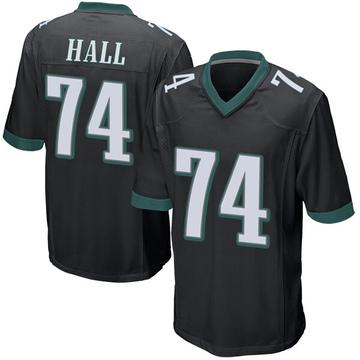 Youth Nike Philadelphia Eagles Daeshon Hall Black Alternate Jersey - Game