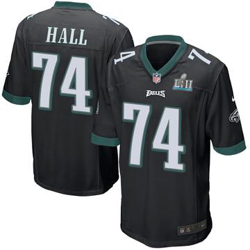 Youth Nike Philadelphia Eagles Daeshon Hall Black Alternate Super Bowl LII Jersey - Game