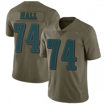 Youth Nike Philadelphia Eagles Daeshon Hall Green 2017 Salute to Service Jersey - Limited