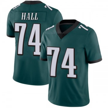 Youth Nike Philadelphia Eagles Daeshon Hall Green Midnight Team Color Vapor Untouchable Jersey - Limited