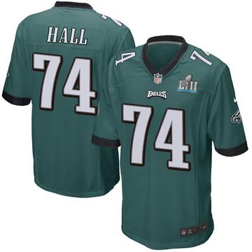 Youth Nike Philadelphia Eagles Daeshon Hall Green Team Color Super Bowl LII Jersey - Game