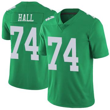 Youth Nike Philadelphia Eagles Daeshon Hall Green Vapor Untouchable Jersey - Limited