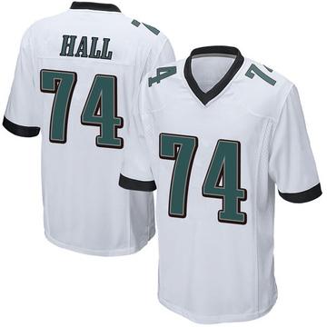 Youth Nike Philadelphia Eagles Daeshon Hall White Jersey - Game