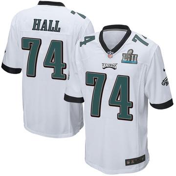 Youth Nike Philadelphia Eagles Daeshon Hall White Super Bowl LII Jersey - Game