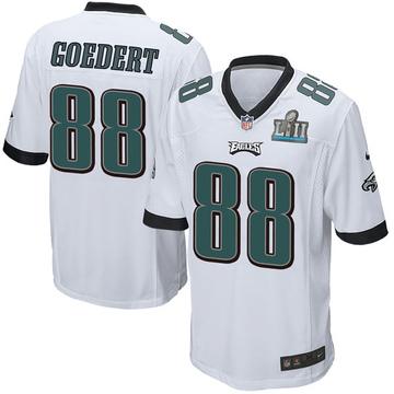 Youth Nike Philadelphia Eagles Dallas Goedert White Super Bowl LII Jersey - Game