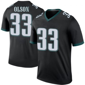 Youth Nike Philadelphia Eagles Dante Olson Black Color Rush Jersey - Legend