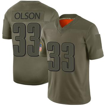 Youth Nike Philadelphia Eagles Dante Olson Camo 2019 Salute to Service Jersey - Limited