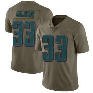 Youth Nike Philadelphia Eagles Dante Olson Green 2017 Salute to Service Jersey - Limited