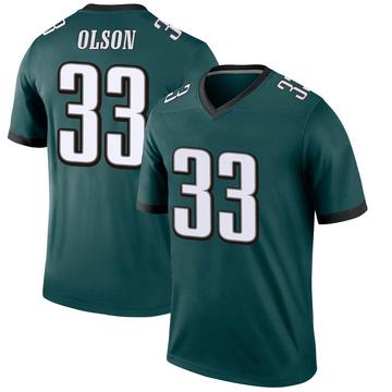 Youth Nike Philadelphia Eagles Dante Olson Green Jersey - Legend
