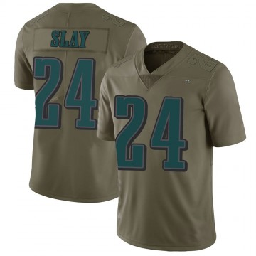 Youth Nike Philadelphia Eagles Darius Slay Green 2017 Salute to Service Jersey - Limited