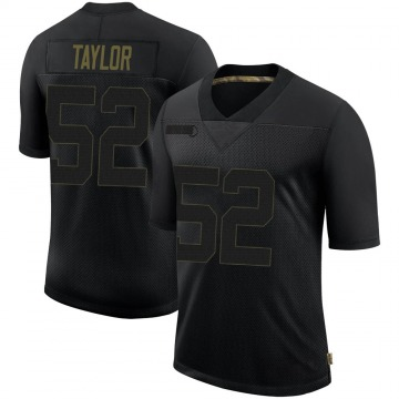Youth Nike Philadelphia Eagles Davion Taylor Black 2020 Salute To Service Jersey - Limited