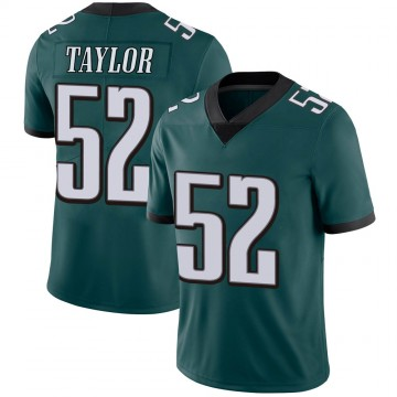 Youth Nike Philadelphia Eagles Davion Taylor Green Midnight 100th Vapor Jersey - Limited
