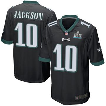 Youth Nike Philadelphia Eagles DeSean Jackson Black Alternate Super Bowl LII Jersey - Game