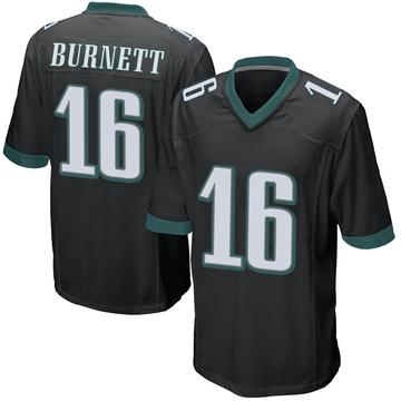 Youth Nike Philadelphia Eagles Deontay Burnett Black Alternate Jersey - Game