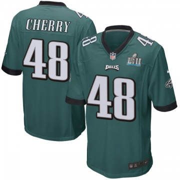 Youth Nike Philadelphia Eagles Don Cherry Green Team Color Super Bowl LII Jersey - Game