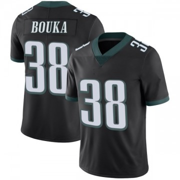 Youth Nike Philadelphia Eagles Elie Bouka Black Alternate Vapor Untouchable Jersey - Limited