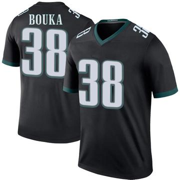 Youth Nike Philadelphia Eagles Elie Bouka Black Color Rush Jersey - Legend