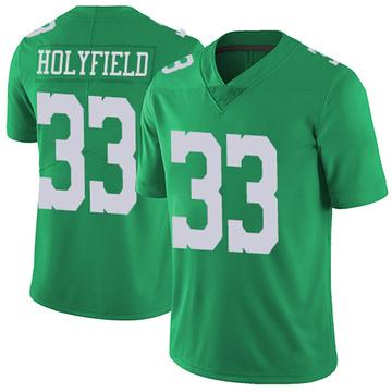 Youth Nike Philadelphia Eagles Elijah Holyfield Green Vapor Untouchable Jersey - Limited