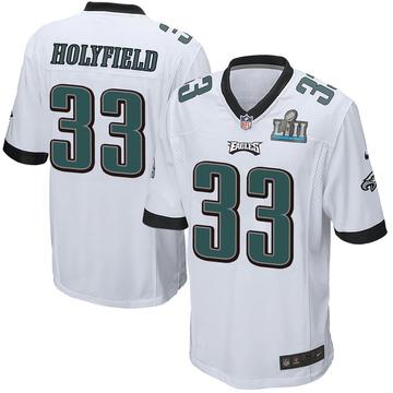 Youth Nike Philadelphia Eagles Elijah Holyfield White Super Bowl LII Jersey - Game