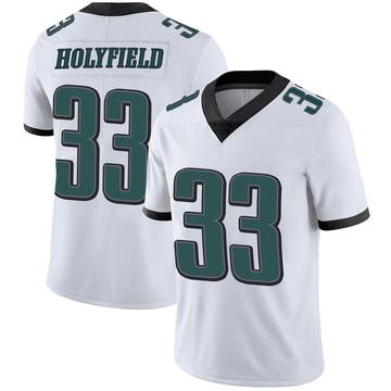 Youth Nike Philadelphia Eagles Elijah Holyfield White Vapor Untouchable Jersey - Limited