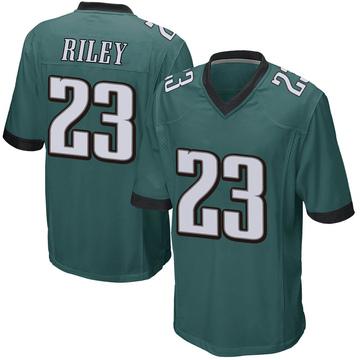 Youth Nike Philadelphia Eagles Elijah Riley Green Team Color Jersey - Game