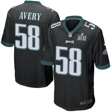 Youth Nike Philadelphia Eagles Genard Avery Black Alternate Super Bowl LII Jersey - Game