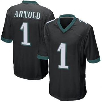 Youth Nike Philadelphia Eagles Grayland Arnold Black Alternate Jersey - Game