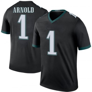 Youth Nike Philadelphia Eagles Grayland Arnold Black Color Rush Jersey - Legend