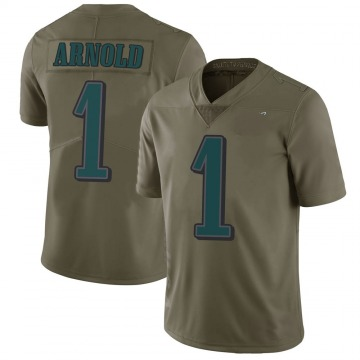 Youth Nike Philadelphia Eagles Grayland Arnold Green 2017 Salute to Service Jersey - Limited
