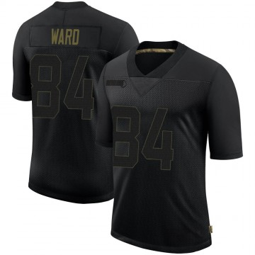 Youth Nike Philadelphia Eagles Greg Ward Jr. Black 2020 Salute To Service Jersey - Limited
