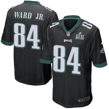 Youth Nike Philadelphia Eagles Greg Ward Jr. Black Alternate Super Bowl LII Jersey - Game