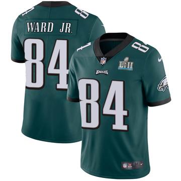 Youth Nike Philadelphia Eagles Greg Ward Jr. Green Midnight Team Color Super Bowl LII Vapor Untouchable Jersey - Limited