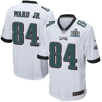 Youth Nike Philadelphia Eagles Greg Ward Jr. White Super Bowl LII Jersey - Game