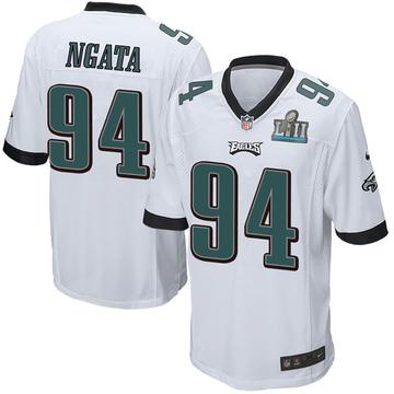 Youth Nike Philadelphia Eagles Haloti Ngata White Super Bowl LII Jersey - Game