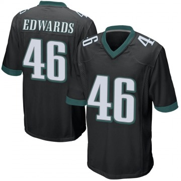 Youth Nike Philadelphia Eagles Herman Edwards Black Alternate Jersey - Game