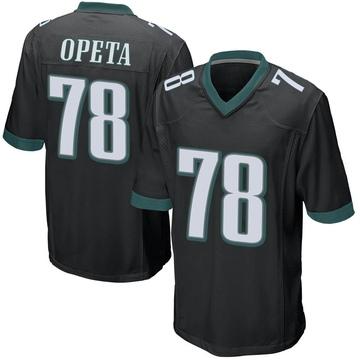 Youth Nike Philadelphia Eagles Iosua Opeta Black Alternate Jersey - Game