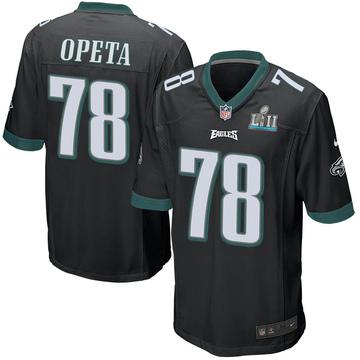 Youth Nike Philadelphia Eagles Iosua Opeta Black Alternate Super Bowl LII Jersey - Game