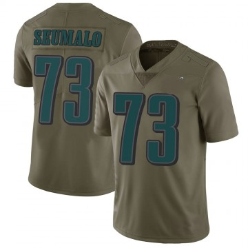 Youth Nike Philadelphia Eagles Isaac Seumalo Green 2017 Salute to Service Jersey - Limited